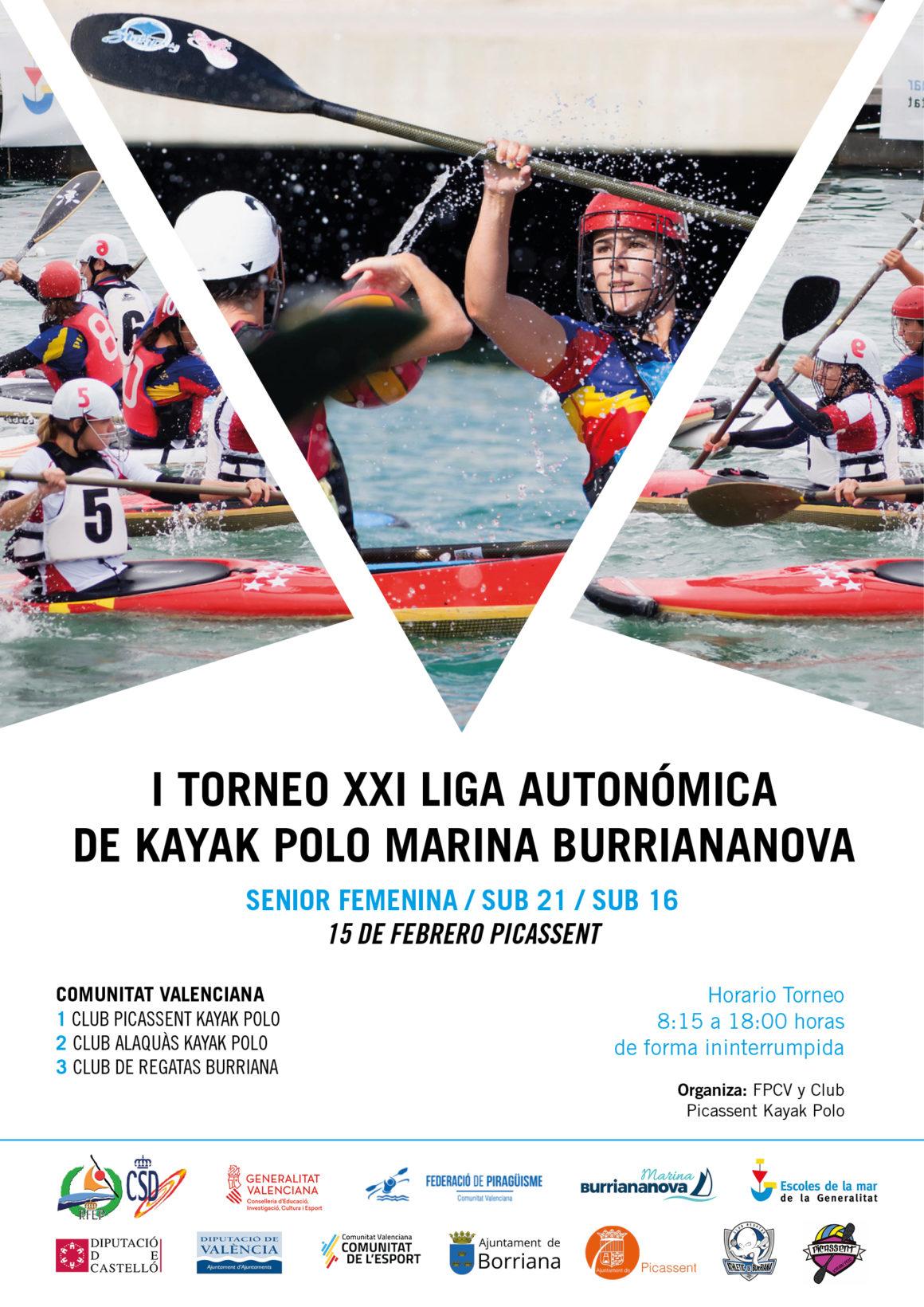 Torn per a les categories sènior femení, sub-21 i sub-16 en l'I Torneig XXI Lliga Autonòmica de caiac pol