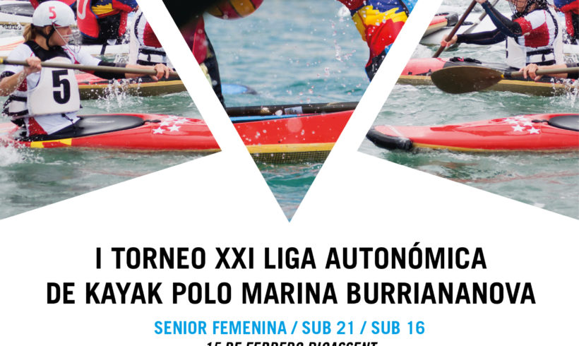 Turno para las categorías sénior femenino, sub-21 y sub-16 en el I Torneo XXI Liga Autonómica de kayak polo