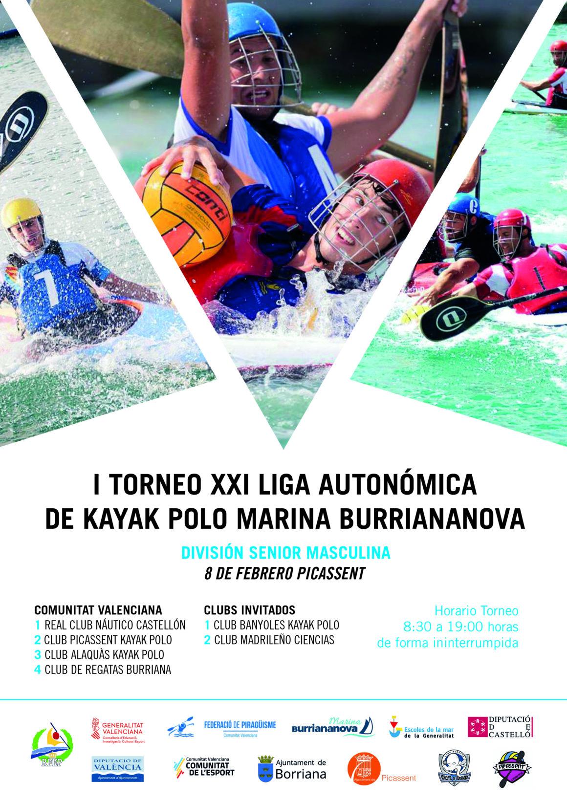 Comença l'I Torneig XXI Lliga Autonòmica de caiac pol MARINA BURRIANANOVA a Picassent