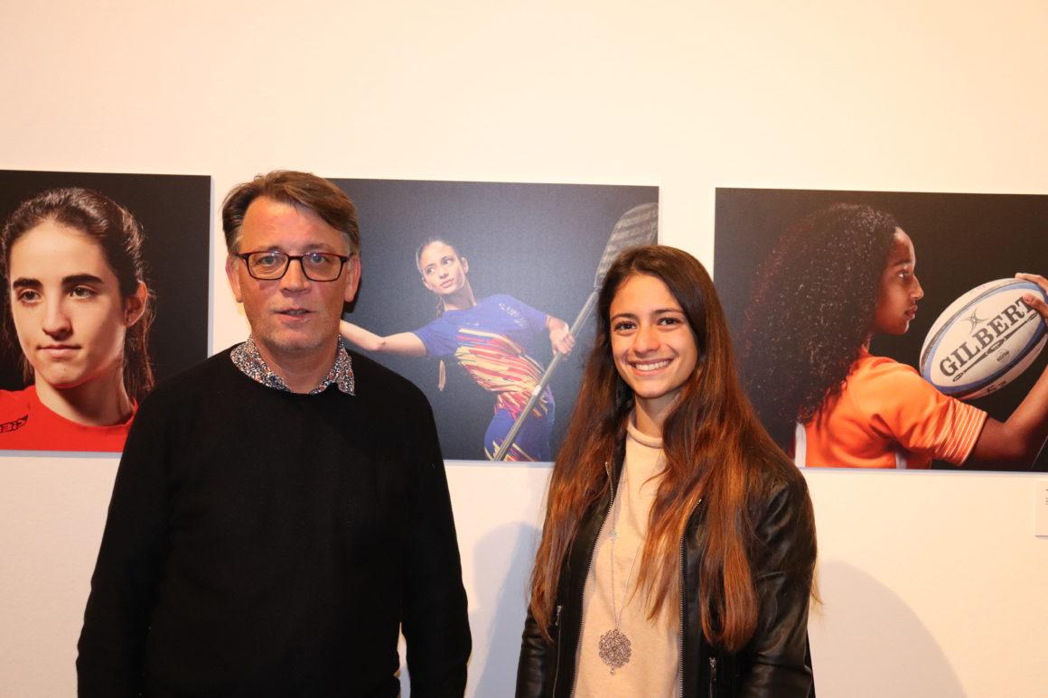 Nerea Bolea representa a la Federació de Piragüisme de la CV en l'exposició fotogràfica de Confedecom