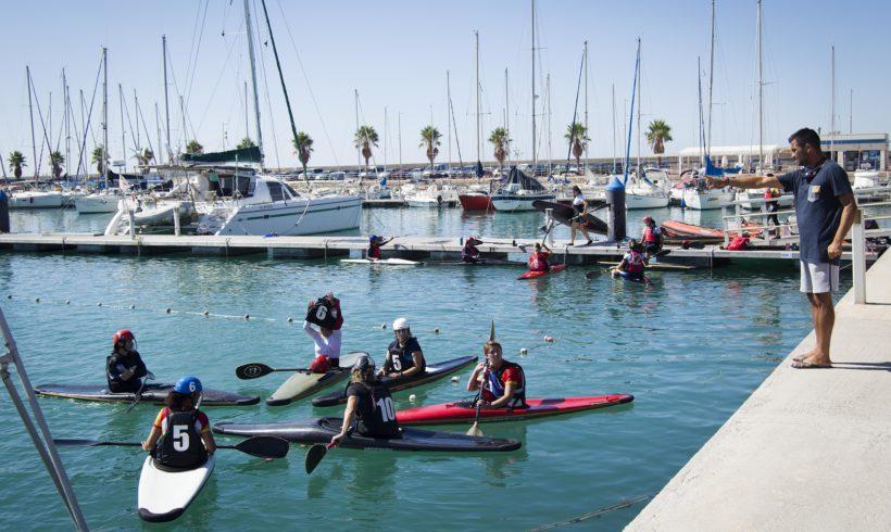 La selección española femenina de kayak polo regresa al agua en Burriana para preparar el Mundial de Roma