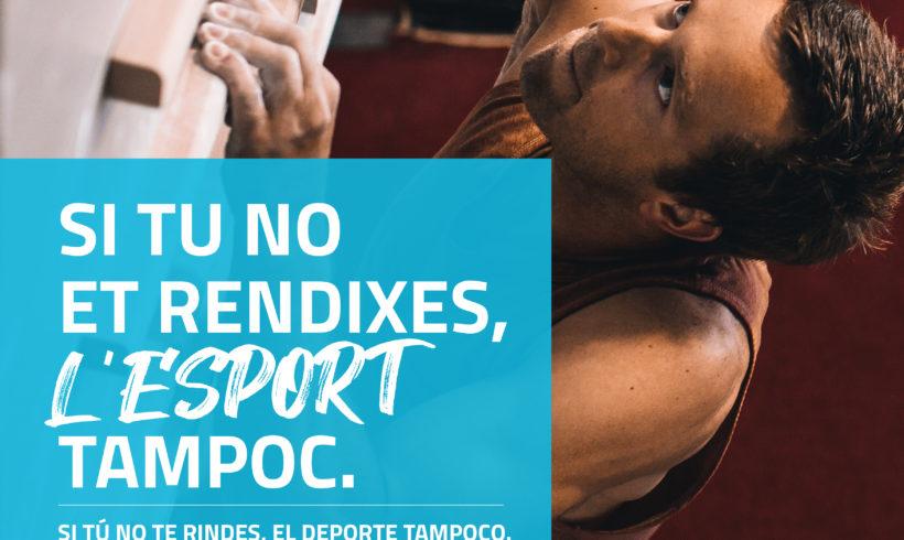 La Federación de Piragüismo de la Comunitat Valenciana se suma a la campaña #ElDeporteNoSeRinde